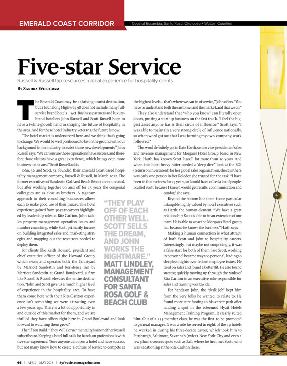 Five-star Service Russell & Russell tap resources, global experience for hospitality clients